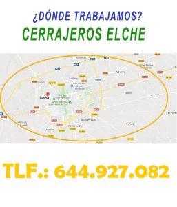 ¿ en que zonas de Elche trabajamos ?